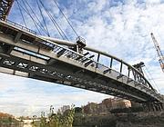 Il ponte sul Tevere ha una campata unica (Jpeg)