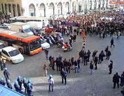 Studenti a piazza Venezia