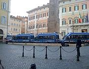 Piazza Montecitorio deserta e blindata