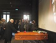Il presidente Napolitano rende omaggio a Monicelli (Ansa)