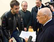Napolitano riceve la lettera degli universitari (Ansa)