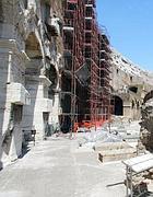 Ponteggi interni al Colosseo per i lavori al Terzo ordine