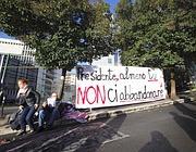 Striscioni a Roma Tre per il presidente Napolitano