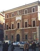 Il palazzo di Propaganda Fide in piazza di Spagna