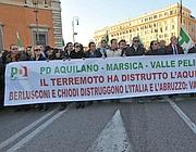 Manifestanti anche dall'Aquila (Ipp)
