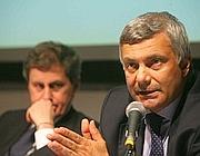 L'assessore all'Urbanistica  Marco Corsini, con il sindaco (Fotogramma)