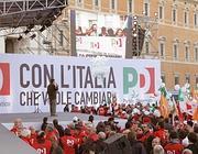 Il palco in piazza San Giovanni (BlowUp)