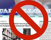 Una pagina del blog «Cartellopoli» che è stato oscurato dai magistrati