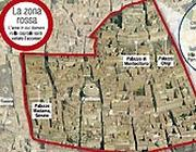 L'area interdetta ai cortei martedì 14 dicembre