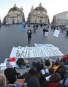 Lo sciopero della fame degli studenti in piazza (Jpeg)