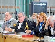 In aula: il primo a sinistra è Raniero Busco (foto Proto)