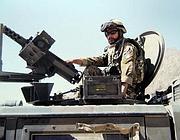 Una foto di Matteo in Afghanistan (Ansa)