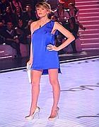 Alessia Marcuzzi , conduttrice del Gf (Ansa)