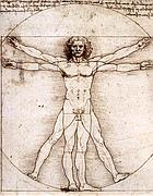 Il disegno di Leonardo dell'uomo vitruviano