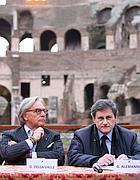 L'imprenditore Della Valle con il sindaco Alemanno (Jpeg)
