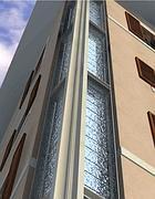 Un rendering del palazzo progettato da Portoghesi