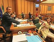 Mario Abbruzzese e la presidente del Lazio Renata Polverini (Jpeg)
