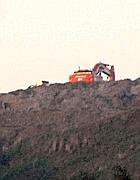 Ruspe al lavoro su una collina di Monti dell'Ortaccio (foto Umberto Faraglia)