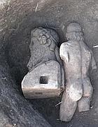 Particolare delle statue dei Severi