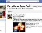 L'invito ad investire il sindaco Alemanno sulla pagina di Facebook di Forza Nuova Roma Sud