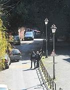 Rilievi della scientifica in via San Sebastianello, dove è avvenuta la violenza (Proto)