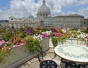 La terrazza dell'Atlante Garden Hotel in San Pietro