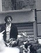 Valerio Verbano ad una manifestazione sul finire degli anni '70 (foto dal web)
