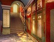 Le proiezioni video sulle pareti e i pavimenti dei sotterranei (foto internet)