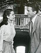 Audery Hepburn e Gregory Peck in via Margutta 51 durante le riprese del film nel 1953 (Jpeg)