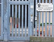 L'ingresso della caserma dei Carabinieri del Quadraro (Ansa)