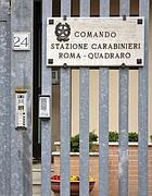 L'ingresso della caserma di via Cincinnato (Eidon)