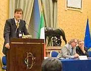 Carlo Maggi, direttore generale, con i vertici di Enasarco ad un convegno