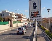 Il cartello che segnala l'autovelox sul lungomare di Ardea (foto Faraglia)