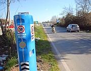 Un autovelox sulla strada  litoranea ad Ardea