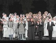 I protagonisti del Nabucco (Ansa)