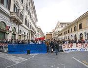 La manifestazione del 28 marzo per la libera circolazione dei profughi in Italia (Eidon)