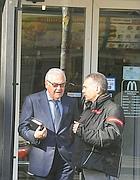Pietro Mattei e il suo avvocato Giuseppe Marazzita (a destra) (foto Proto)