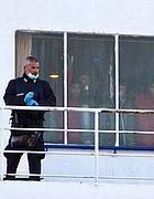 Tunisini sulla Clodia prima dello sbarco (foto Ansa)