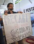 Protesta dei precari della scuola (Eidon)