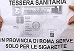 Tessera inutile - Presidionel centro di Roma, mercoledì 13 aprile, per un gruppo di abitanti di Palombara Sabina, giunti nella capitale per contestare  la chiusura dell ospedale prevista dal piano di riordino della Sanità nella Regione Lazio (foto Blowup)