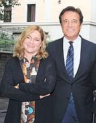 Silvia Verdone con il marito Christian De Sica (foto Eidon)