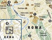 Guarda la mappa degli appuntamenti a Roma
