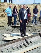 Il ministro Galan in visita agli scavi della nave romana