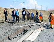 Fasciame della fiancata della nave portato alla luce dagli archeologi (Faraglia)