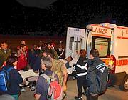 L'arrivo nella notte a Pratica di Mare (Faraglia)