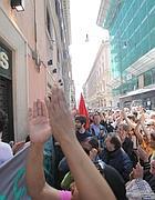 La protesta del primo maggio in via del Corso (Eidon)