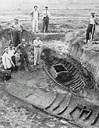 Gli scavi della flotta romana di Fiumicino nel 1950