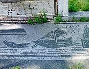 Mosaico con navi romane negli scavi del porto di Claudio e Traiano