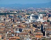 Una veduta di Roma dall'alto