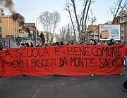 I centri sociali contro CasaPound a Montesacro (foto mediapolitika.com)